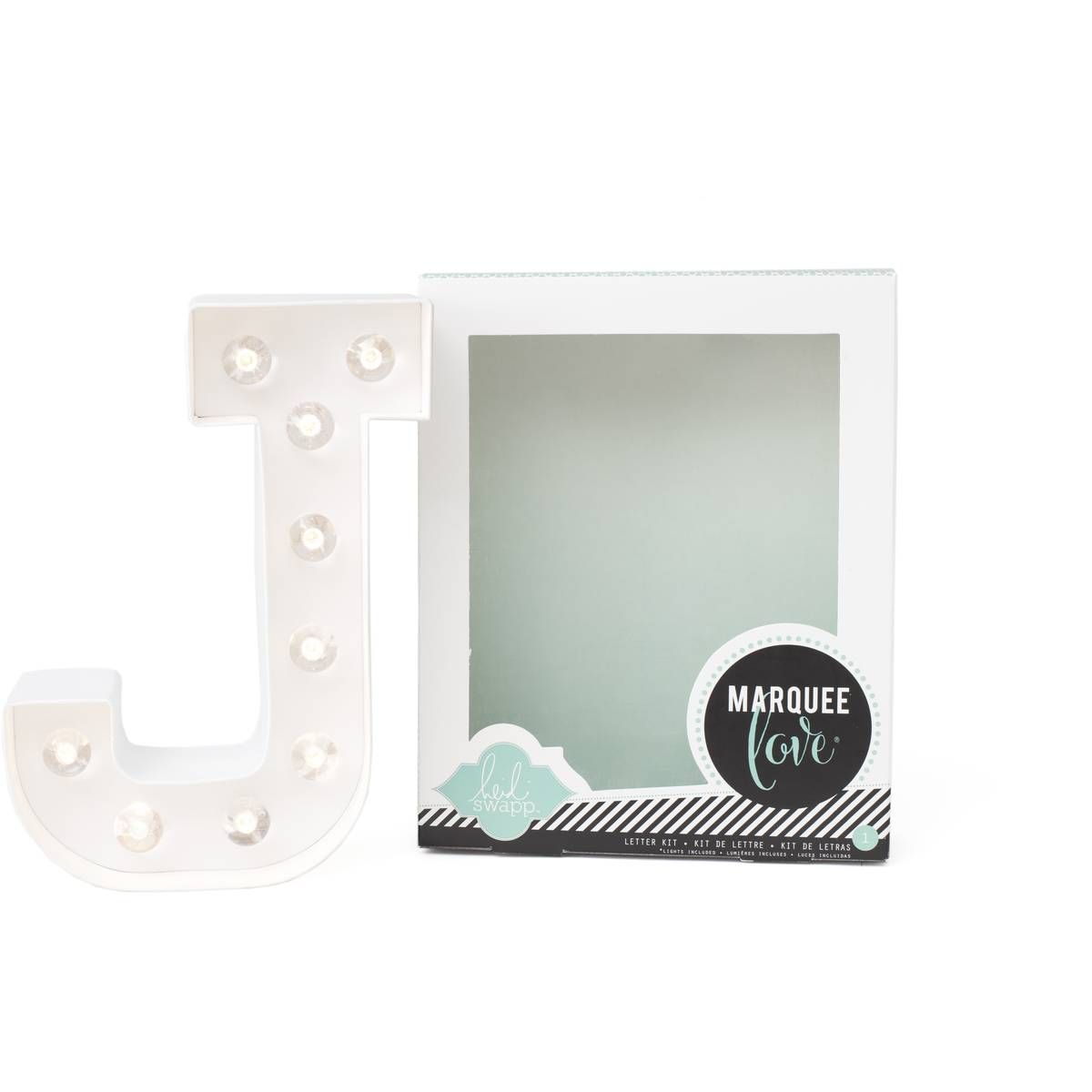 Heidi Swapp Light Up Marquee Letter J | Hobbycraft | Home Inventory ...