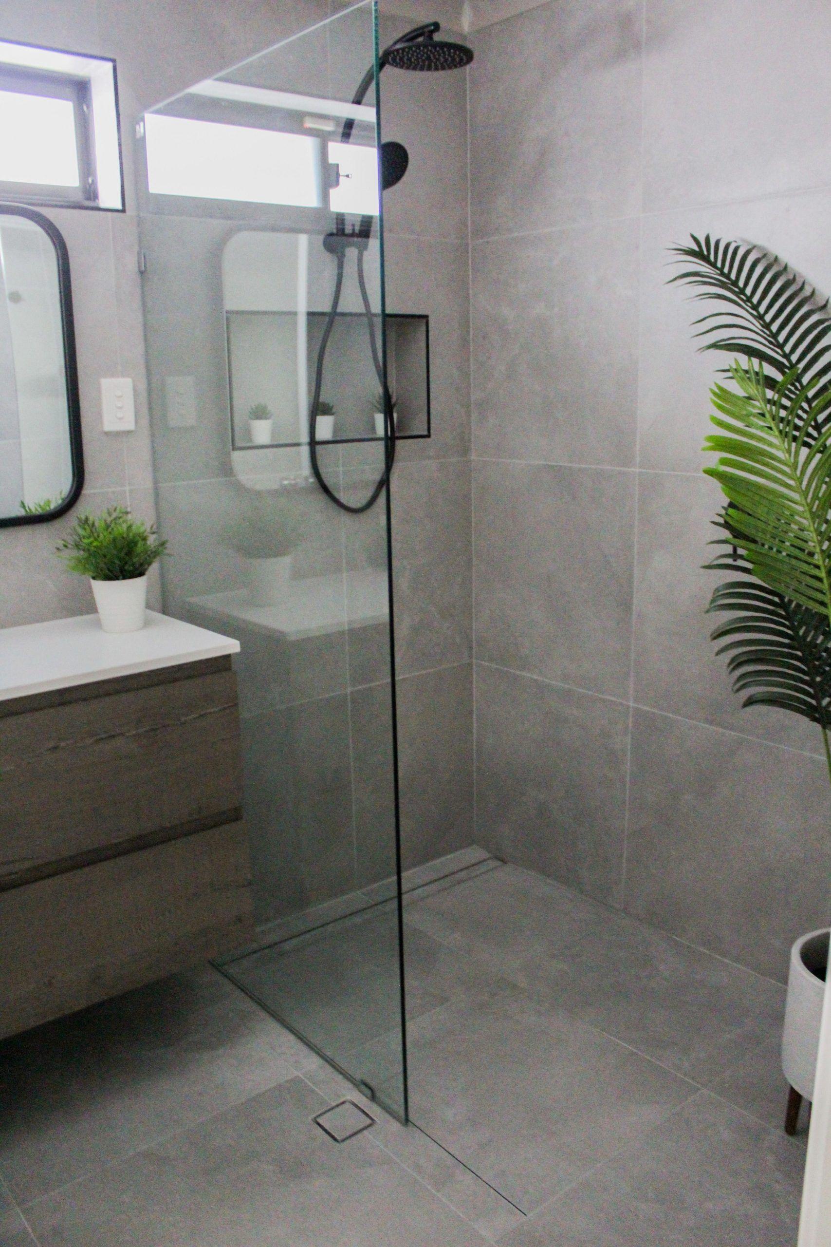 Walk In Shower Fixed Panel Shower Frameless Shower Screen Wall Hung Vanity G Fixed Frameless Hung Pa In 2020 Frameless Shower Wall Hung Vanity Walk In Shower