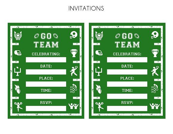 FREE Football Party Printables Free football Party invitations