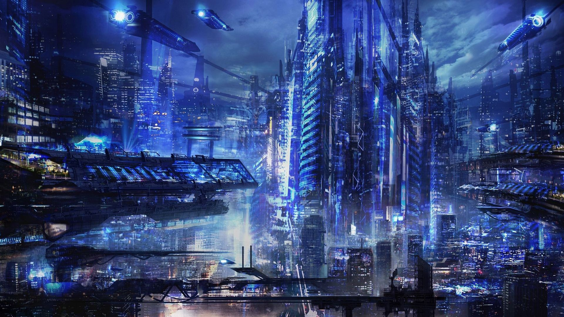 Cyberpunk Wallpapers 1920x1080 Cyberpunk City Sci Fi City City Wallpaper