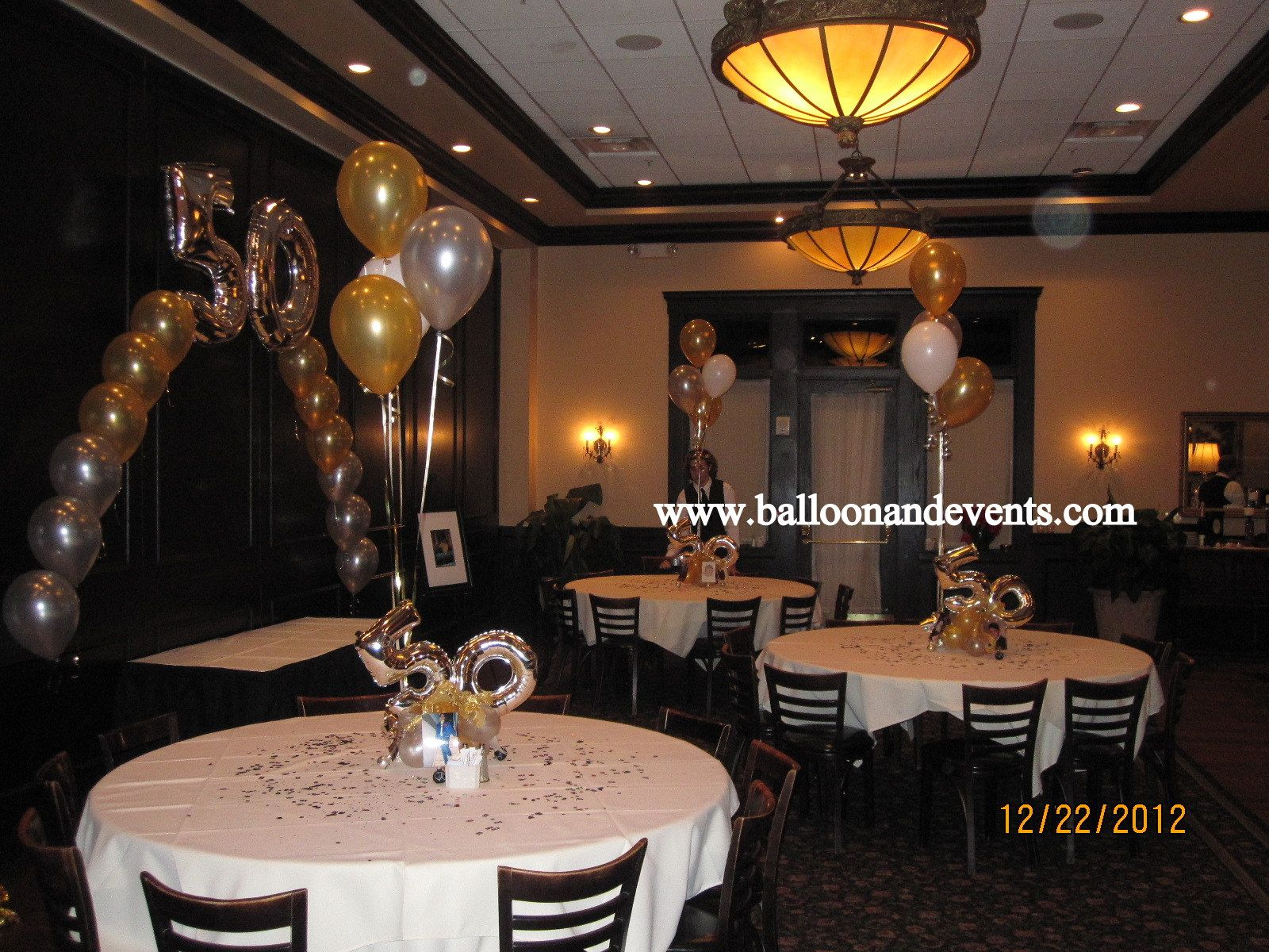 Room Decor For 50th Birthday Party 50 Balloons Centerpieces