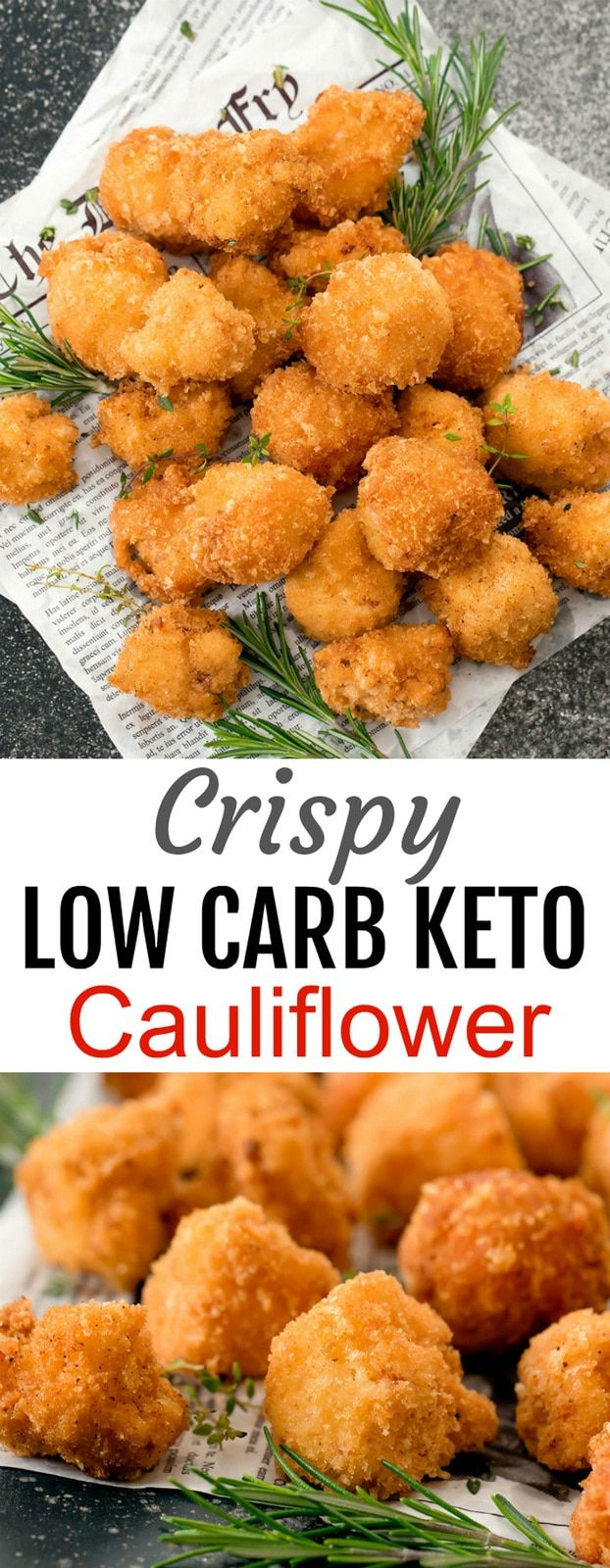 Crispy Low Carb Keto Cauliflower Bites. These cauliflower bites are super crispy and coated…