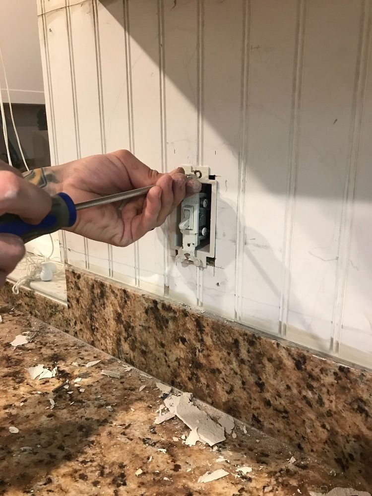 Installing Beadboard As Backsplash And Kitchen Makeover For 100