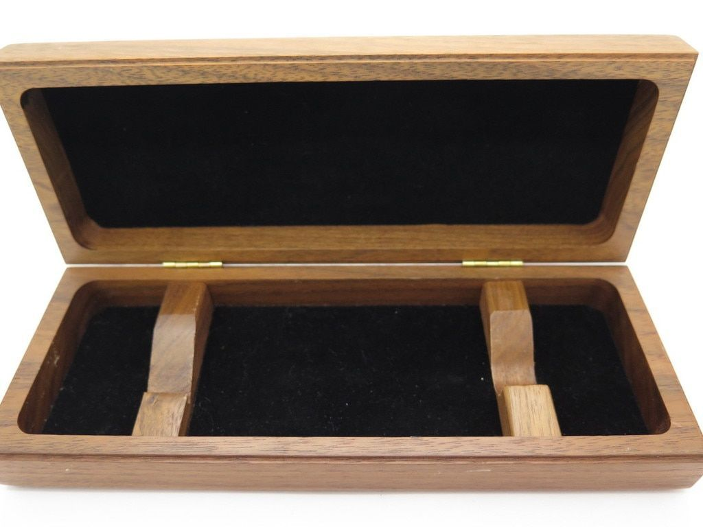 BUCK 196 WALNUT WOOD DISPLAY CASE BOX for FIXED BLADE FOLDING POCKET KNIFE