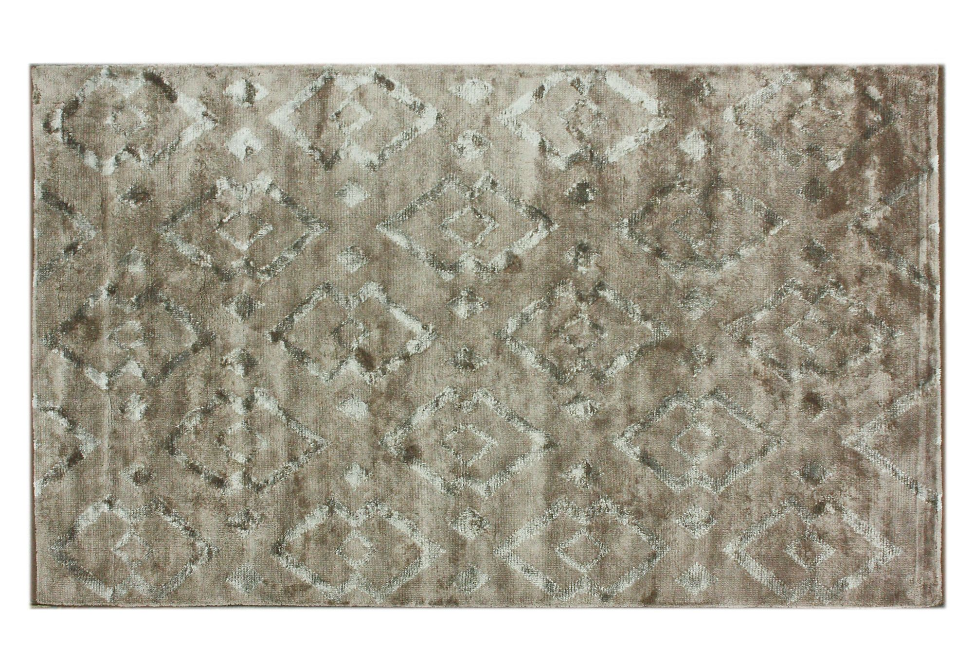 One Kings Lane - Beneath the Feet - 5'x8' Lila Hand-Knotted Area Rug, Brown