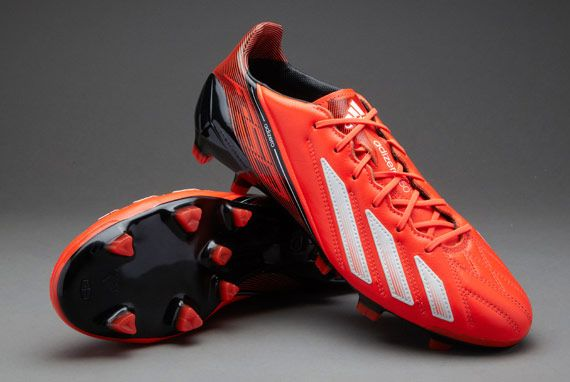 adidas Football Boots - adidas adizero F50 trx FG Leather - Firm Ground -  Soccer Cleats - Infrared-Running White-Black 2dc2bfb1bf5a3