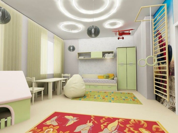 Interior Design Ideas Kids Room Zoning Cool Lighting