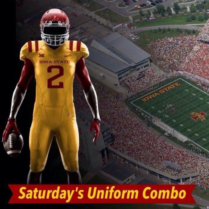 Iowa State Gold Uniforms With Images Football Uniforms