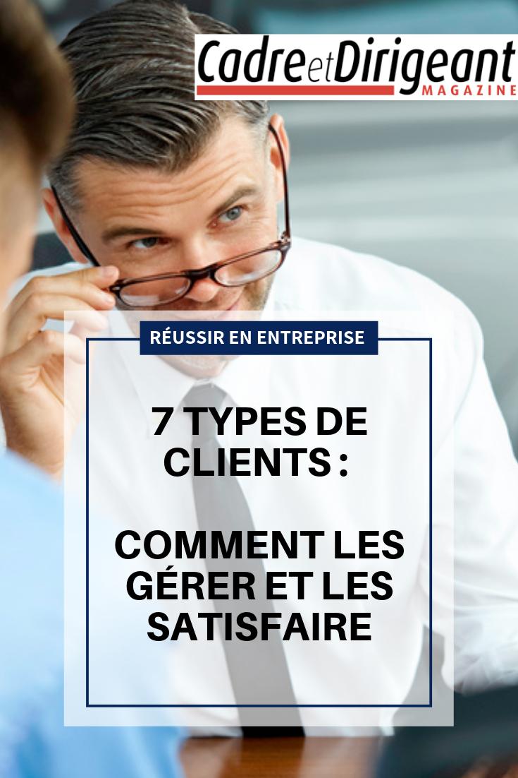 7 Types De Clients Comment Les Gerer Et Les Satisfaire Developpement Du Leadership Entreprise Tableau De Comportement
