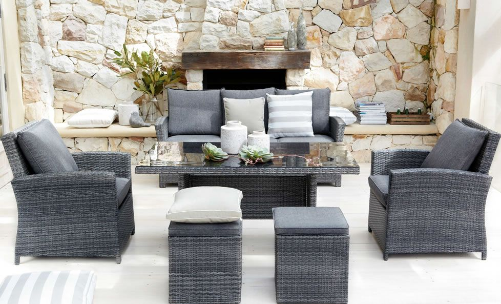 Malta 6 Piece Outdoor Lounge Dining Setting From Harvey Norman New Zealand