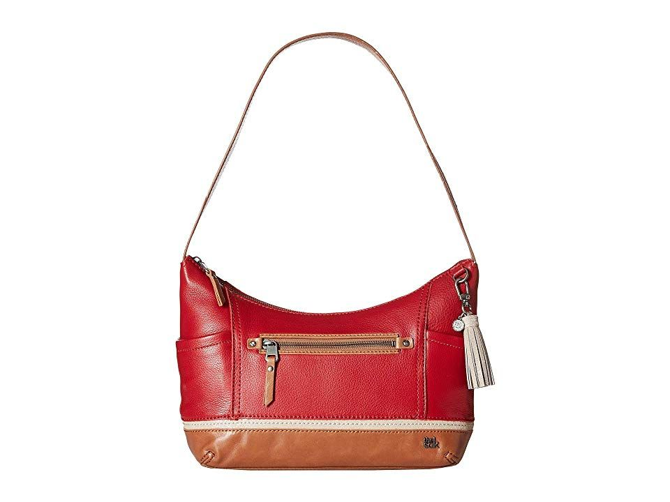 The Sak Kendra Hobo Scarlet Black Hobo Handbags For a hint of casual sophistication get the chic and edgy Kendra Hobo from The Sak Handbags Made of supersoft leather Sing...