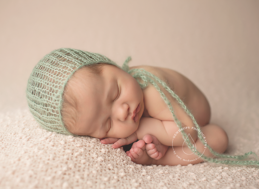 Image of loose knit mohair bonnet newborn photo prop delicate lace knit in 44 colors