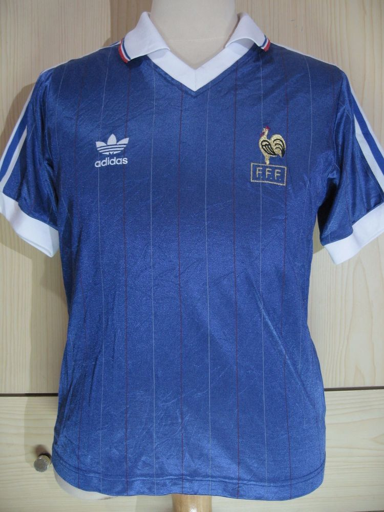e61a18d1022 France World Cup 1986 Platini Vintage Adidas Retro Football Jersey Soccer  Shirt