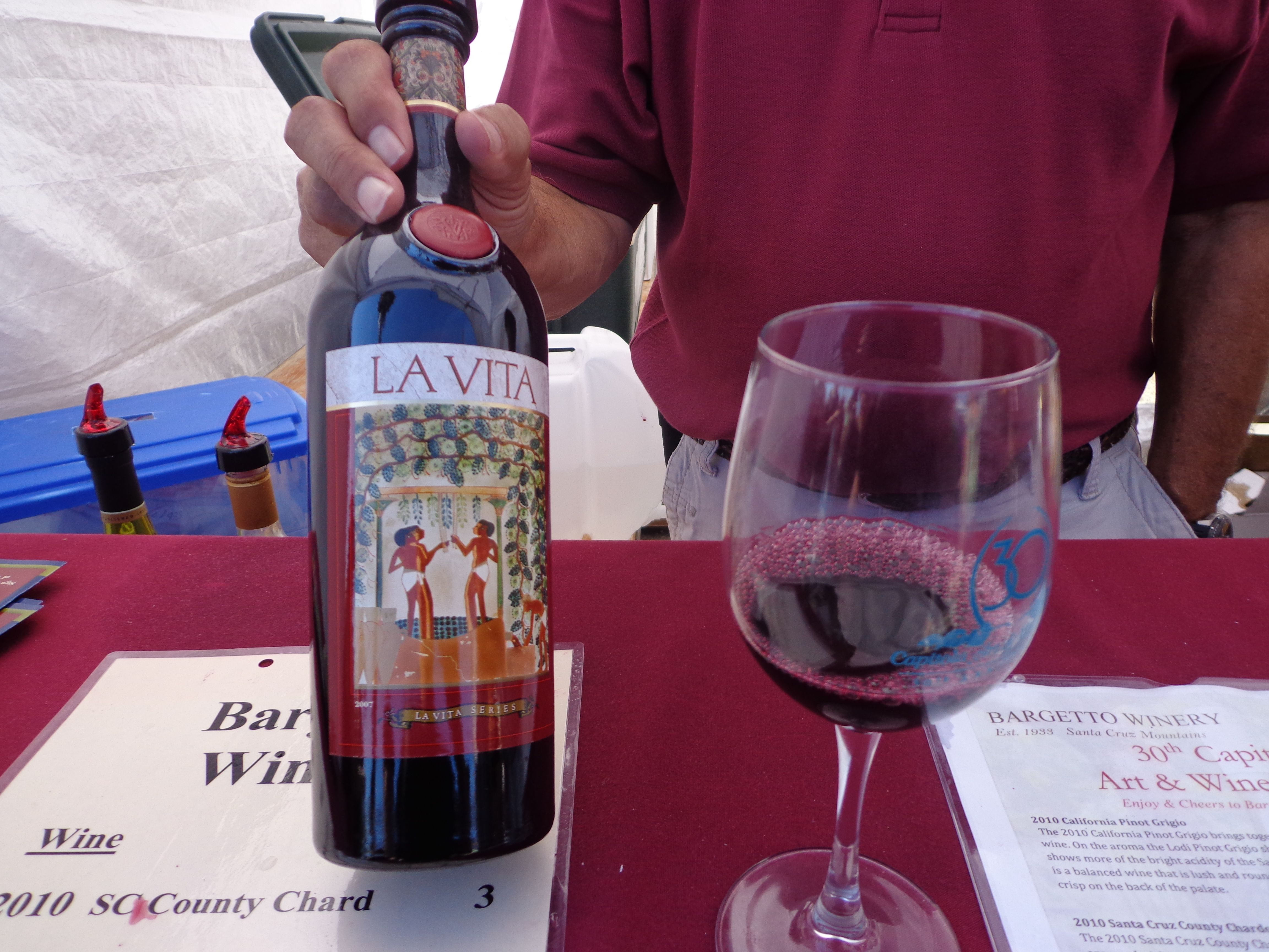 La Vita From Bargetto Winery Wine Festival Winery Win Art
