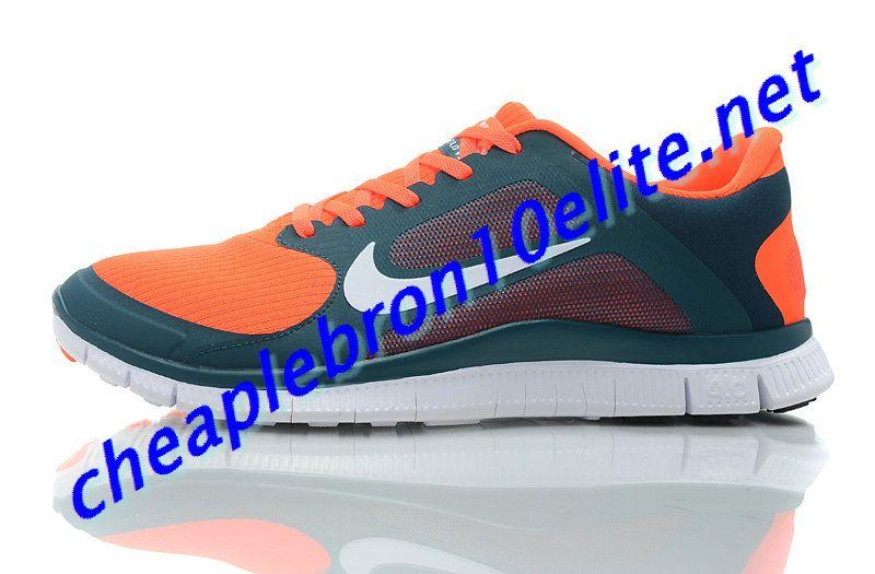 huge selection of eac01 782e4 Orange Nike Free 4.0 V3 Mens White 579958 318
