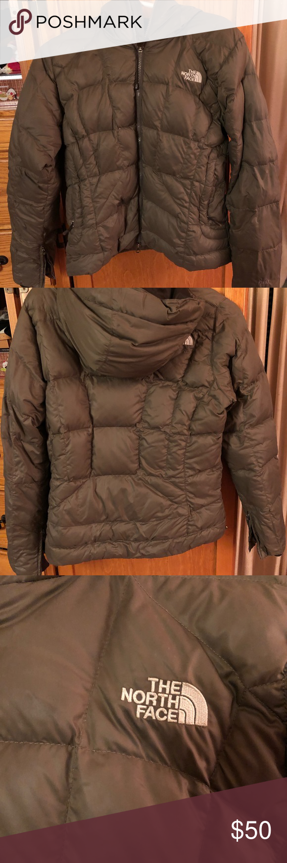 North Face Puffer Coat with Hood Puffer coat with hood