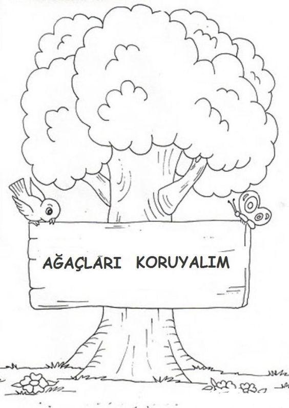 Orman Haftasi Boyama Boyama Sayfalari Ormanlar Okul
