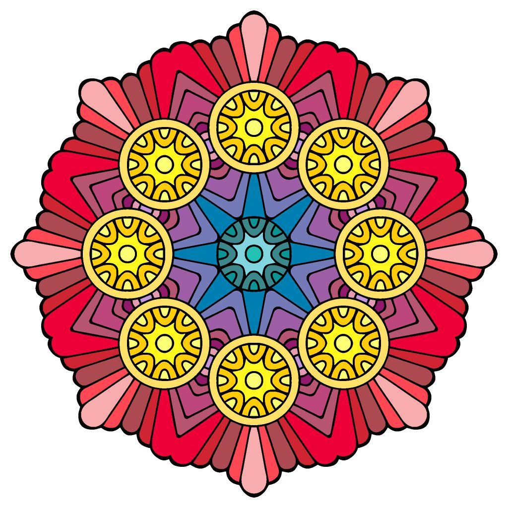 Pin By Carol Davis On Color Happy Happy Color Happy Colors Geometric Logo Mandala
