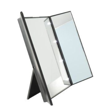 Tri Fold Vanity Mirror With Lights Pinamanda Mcc On Beauty  Pinterest  Tri Fold And Storage