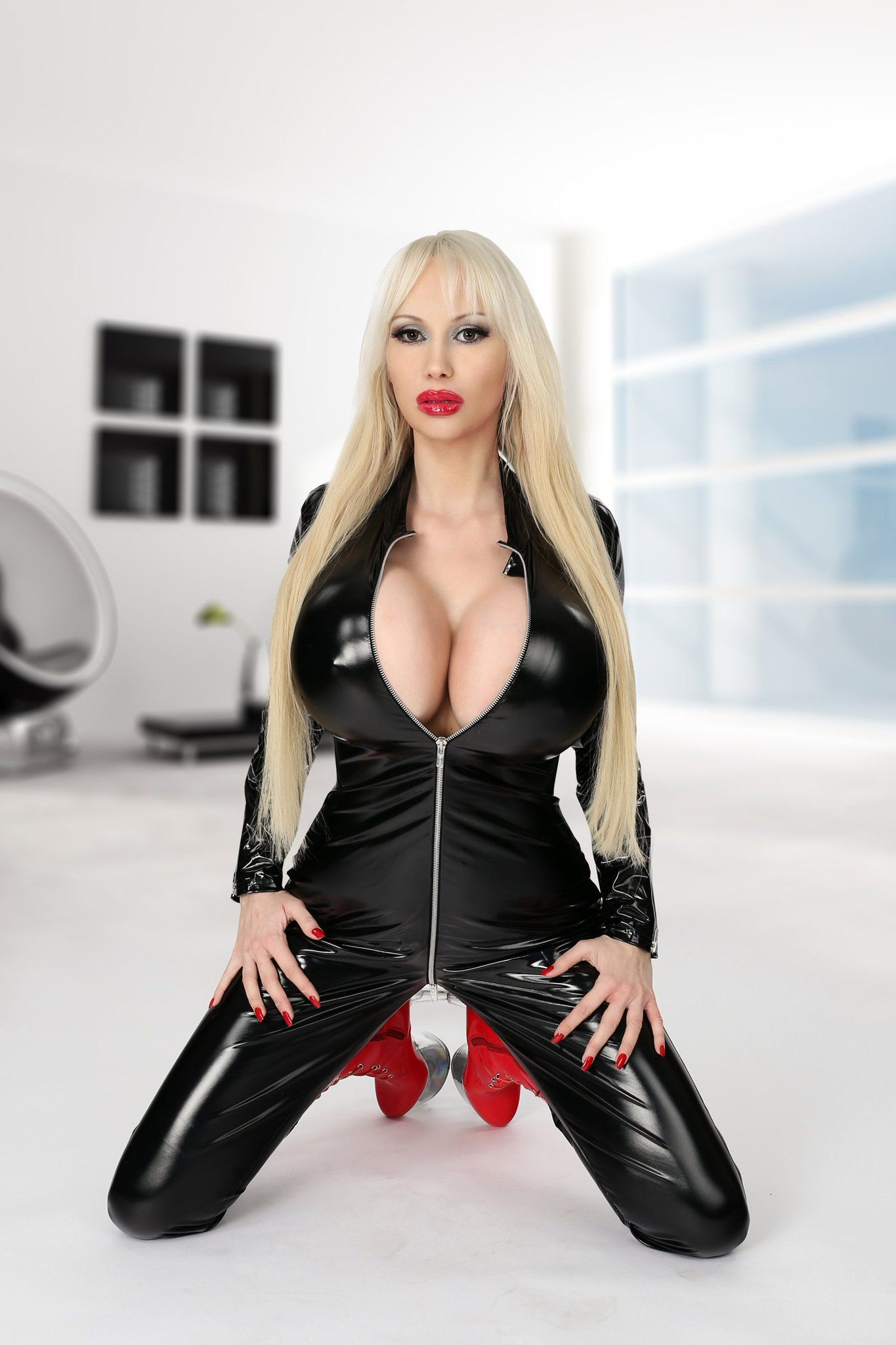 Candid tanned blonde in black bikini bottoms walking 4