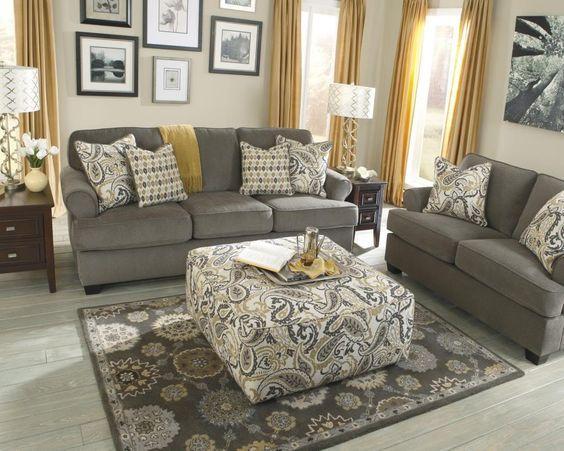 892 The Paradigm Living Room Set Grey: Tono Mostaza Para Crear Un Espacio De Vitalidad E