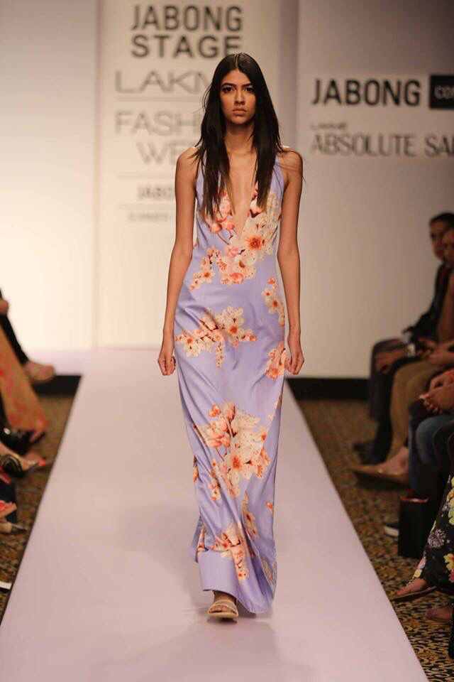 Reliance Footprints presents Sailex's feminine collection filled with fancy floral prints showcased at #LakmeFashionWeek #SummerResort2015