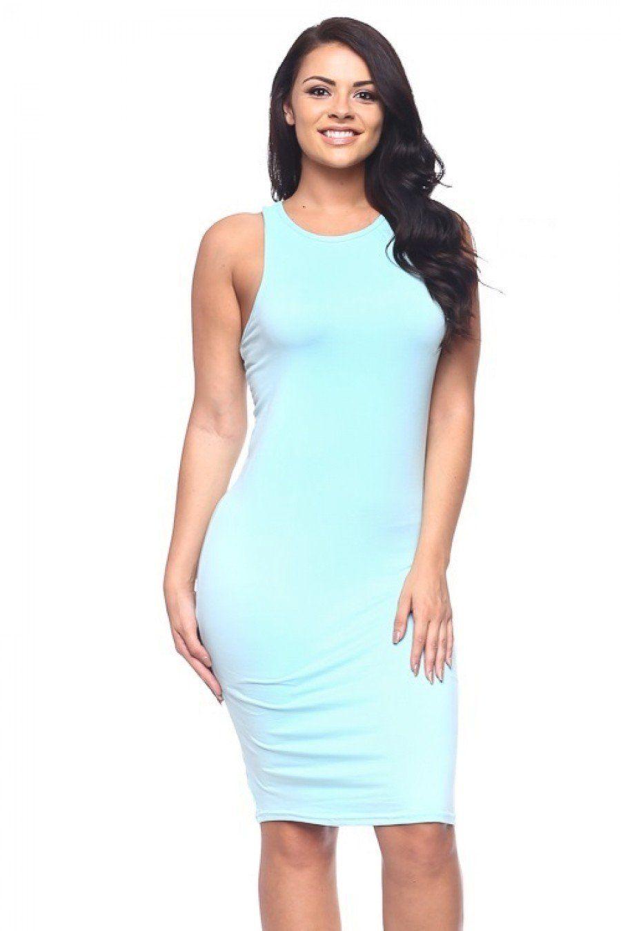 Basic Bodycon Dress Mint In 2021 Basic Bodycon Dress Bodycon Dress Dresses [ 1350 x 900 Pixel ]
