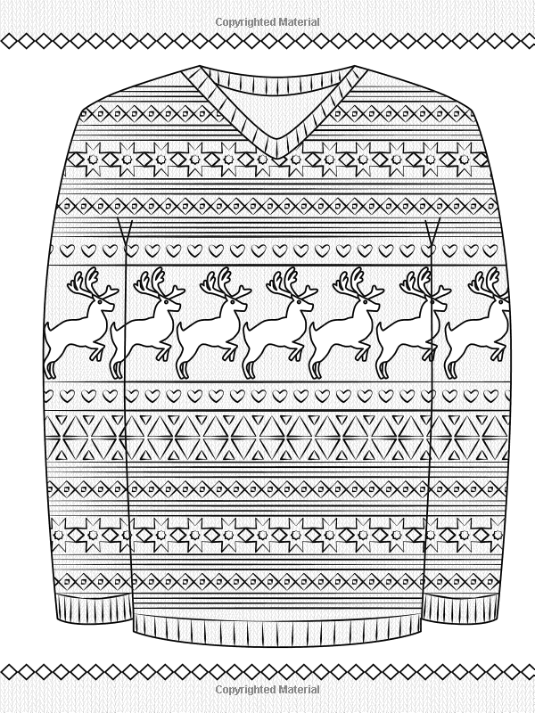 Creative Haven Ugly Holiday Sweaters Coloring Book Creative Haven
