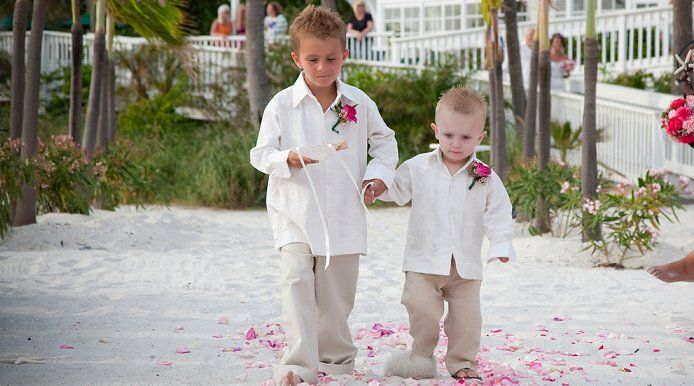 Casual Beach Attire Is A Must With Images Beach Wedding Style