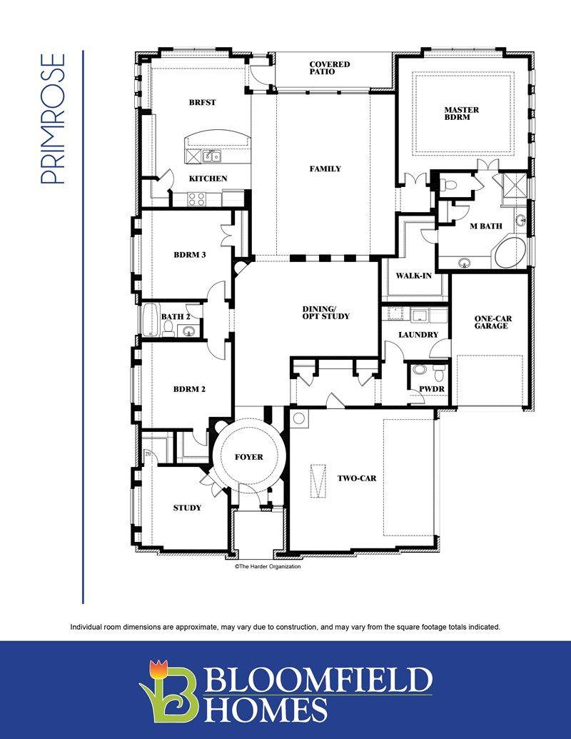 Primrose Floorplan Home Builder in DFW Bloomfield
