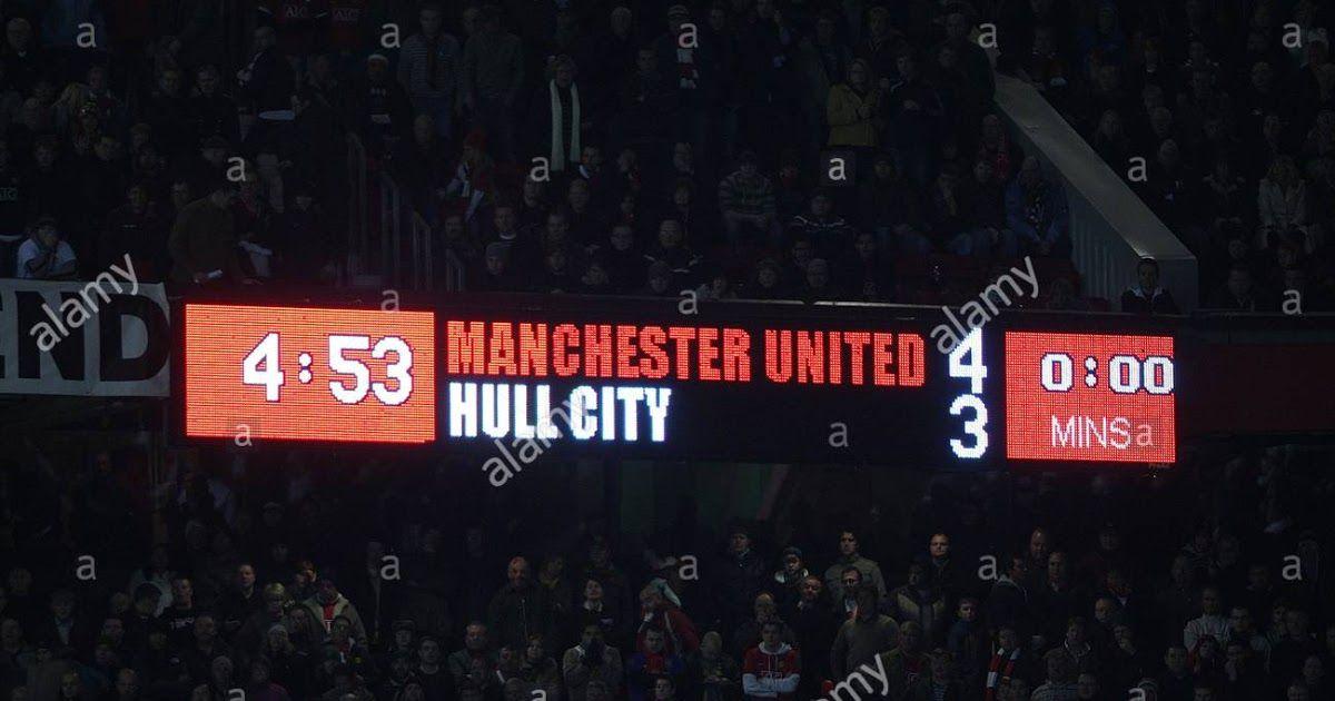 Scoreboard At Old Trafford Manchester United V Hull City