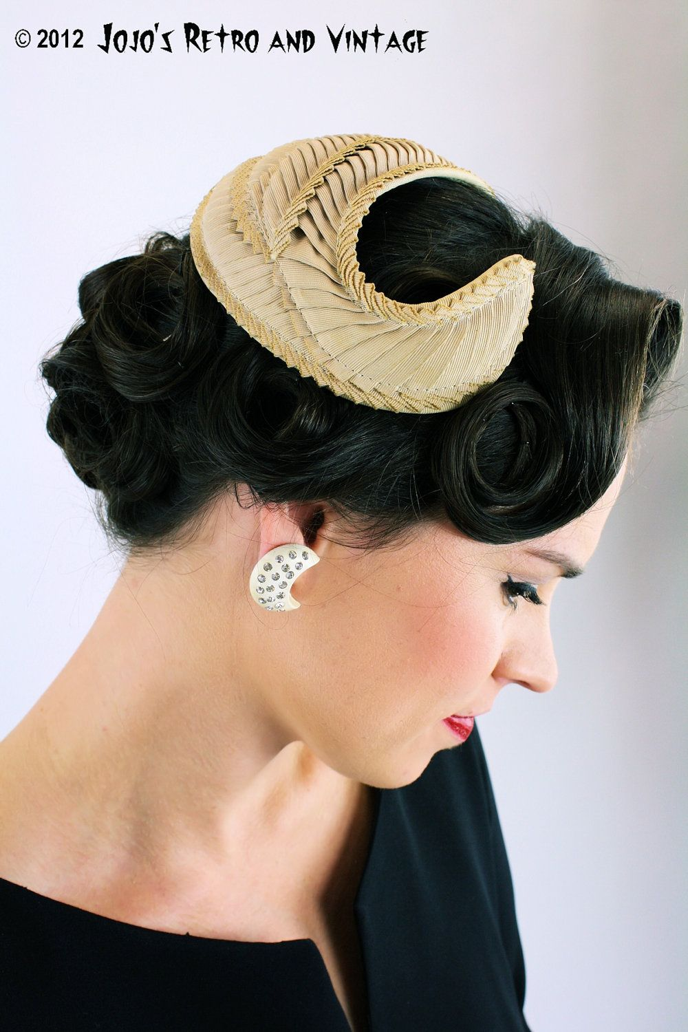 new images of the best best service 50s vintage cocktail hat / Bonwit Teller | 50s Style | 1950s ...