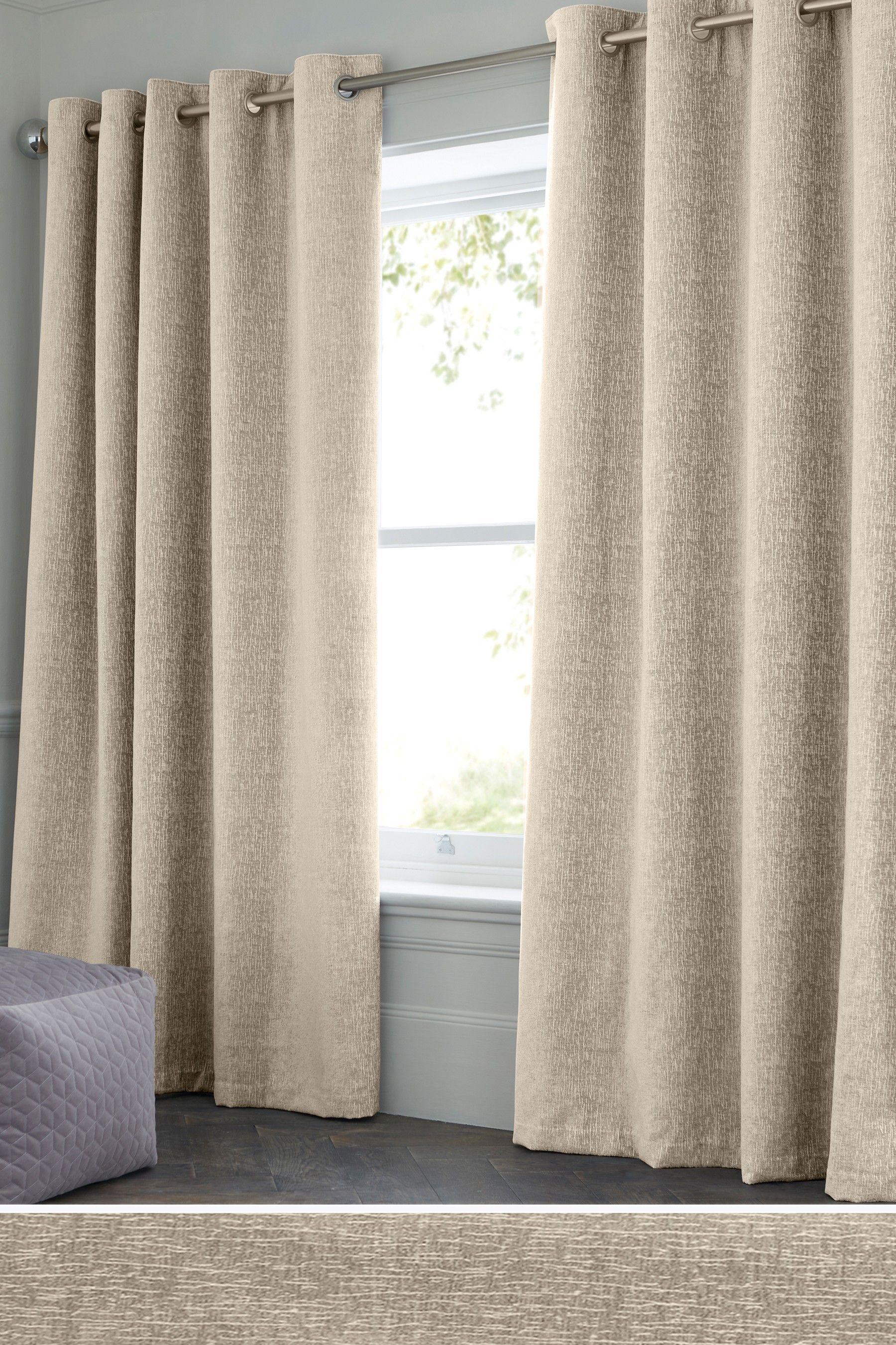 Next Heavyweight Chenille Eyelet Lined Curtains Natural Lined Curtains Curtains Curtains Bedroom
