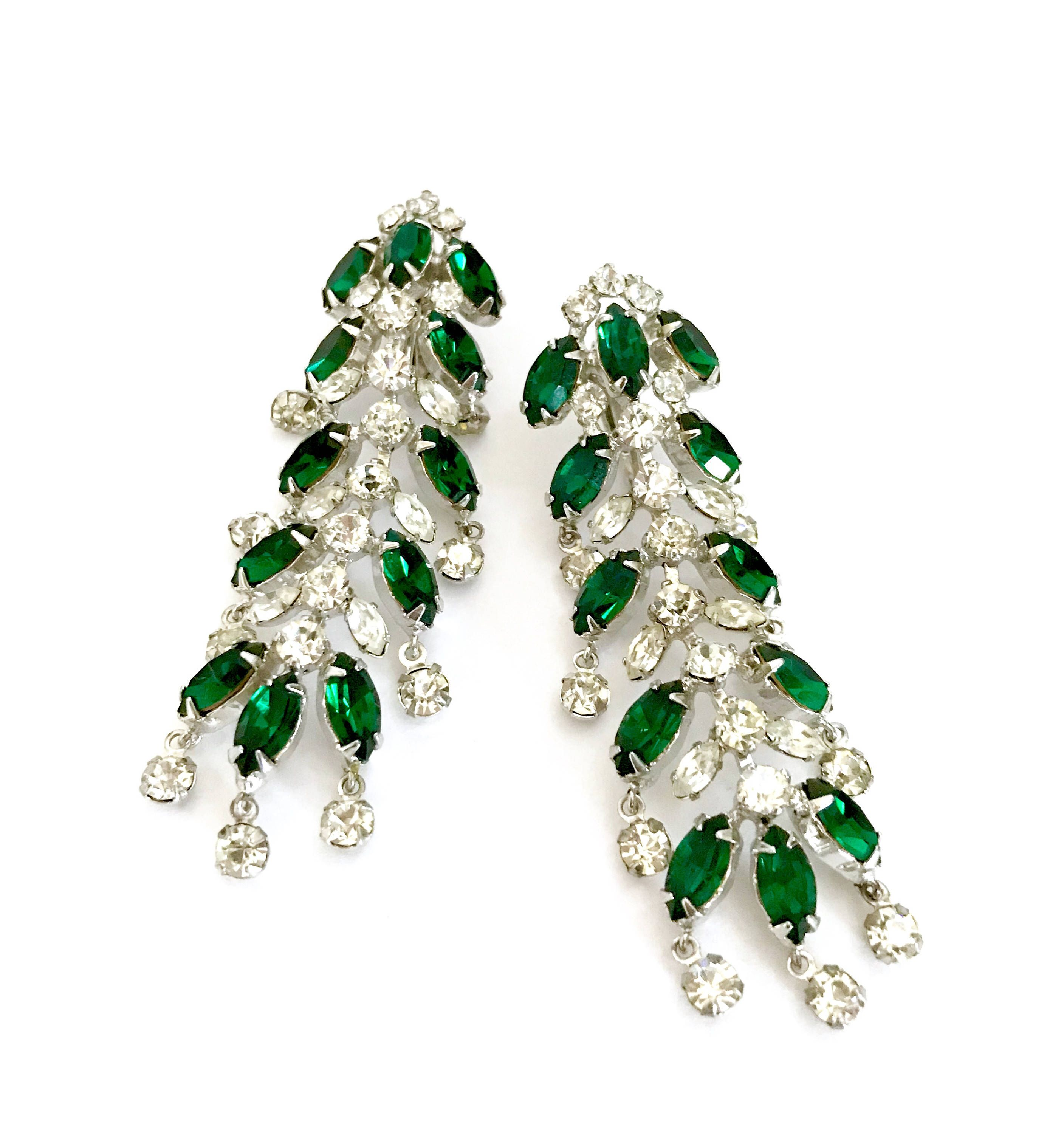 Excited To Share The Latest Addition My Etsy Long Dangle Rhinestone Earrings