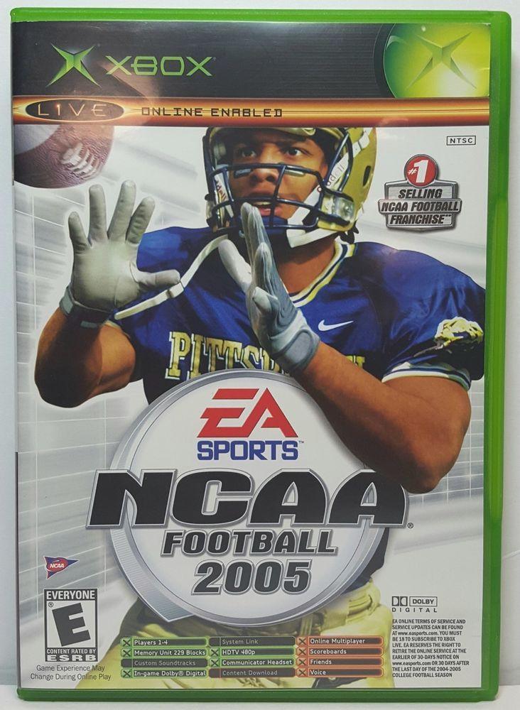 Xbox ncaa football 2005 xbox sports video game ncaa