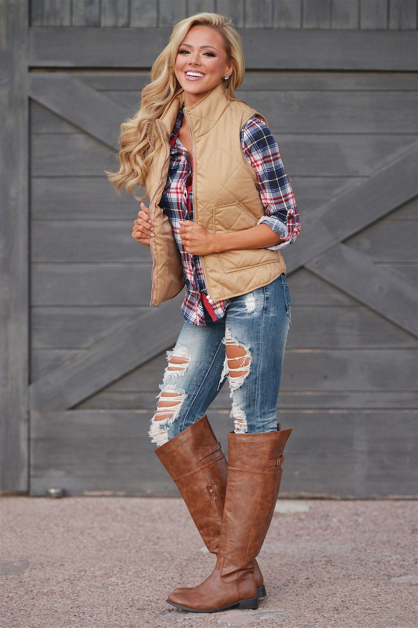 She's A Classic Vest- Khaki from Closet Candy Boutique #fashion #shop