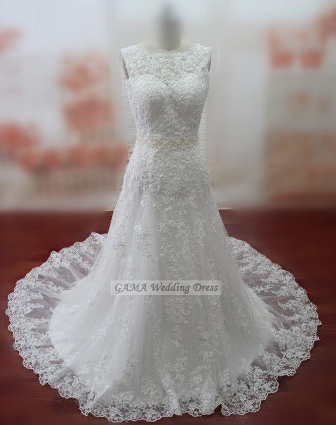 Lace Wedding Dresses Sexy Backless Bridal Gowns Custom Size Made Bridal Dresses Vestido De Noiva