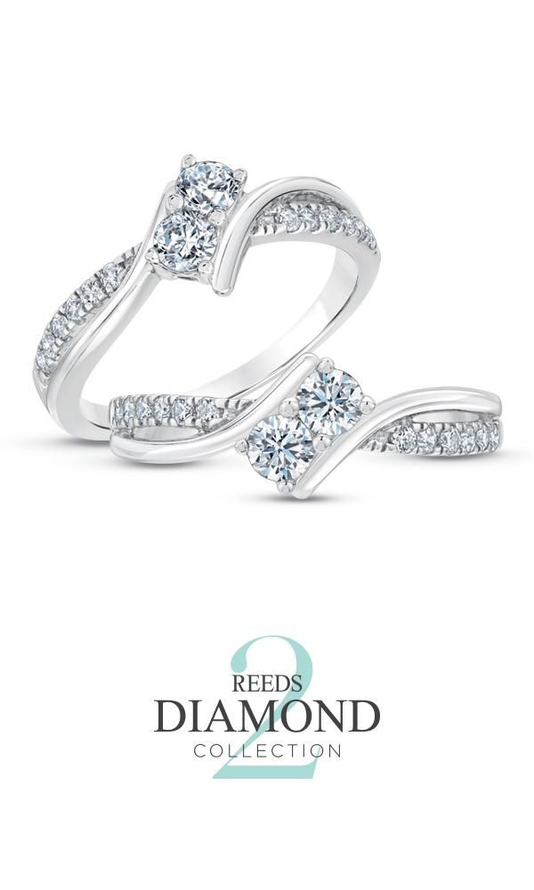 From the REEDS Two Diamond Collection, these stunning