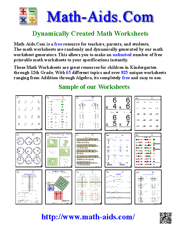 Math Worksheets - create free printables to target any goal ...