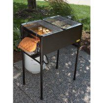 Kitchener Triple Basket Deep Fryer With Images Propane Deep
