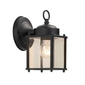 Portfolio H Black Outdoor Wall Light At Lowe S Make Your E Shine With This The Steel Fixture Clear