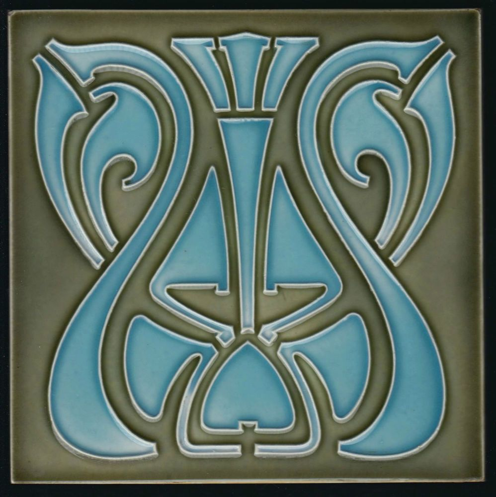 Jugendstil Fliese Tonindustrie Offstein Art Nouveau Tile