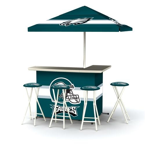 Philadelphia eagles deluxe tailgate bar with 4 stools by best of philadelphia eagles deluxe tailgate bar with 4 stools by best of times buy now nfl carolina panthersnfl dallas cowboysbar setnfl watchthetrailerfo