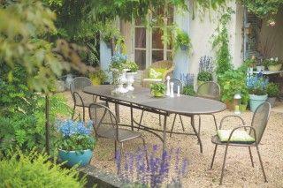 Table de jardin extensible Evo EMU bronze | Mobilier jardin ...
