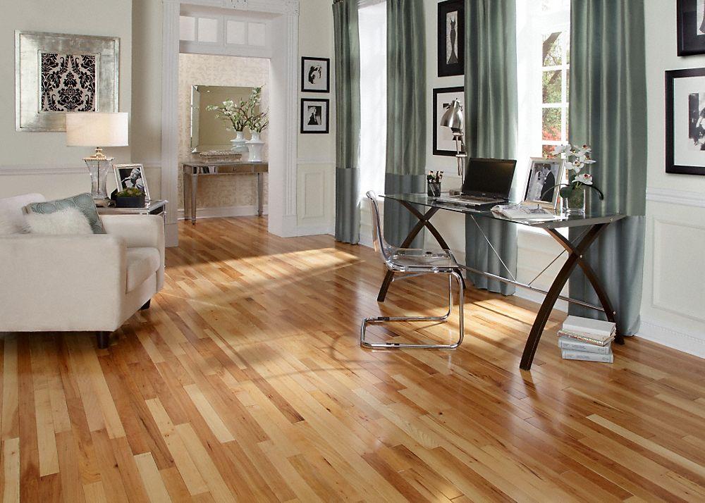 Mayflower 3 4 X 2 1 4 Millrun Hickory Hickory Flooring Solid Hardwood Floors Hickory Hardwood Floors