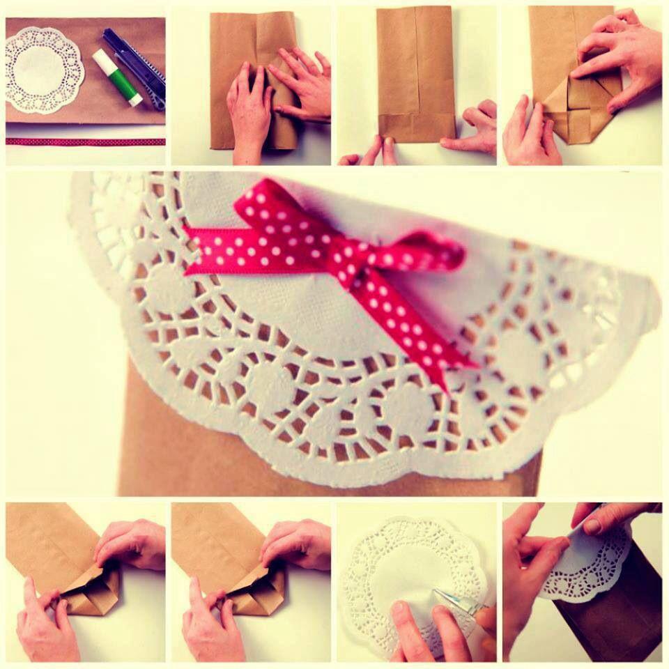 Bolsa de papel manualidades bolsas de regalo y hacer - Hacer bolsas de papel para regalo ...