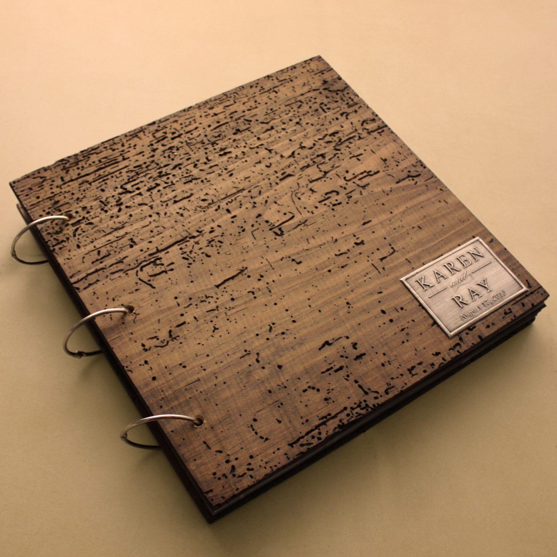 169 Rustic Scrapbook Photo Album Personalized Monogram And