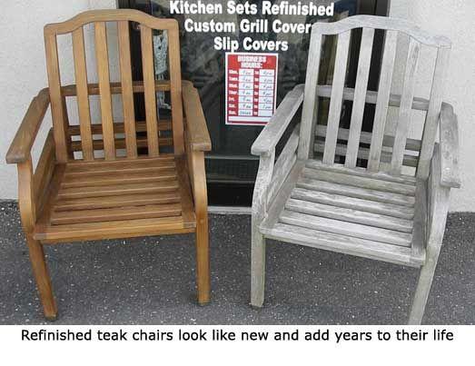 Refinish Teak Furniture Outdoor Repair Restoration