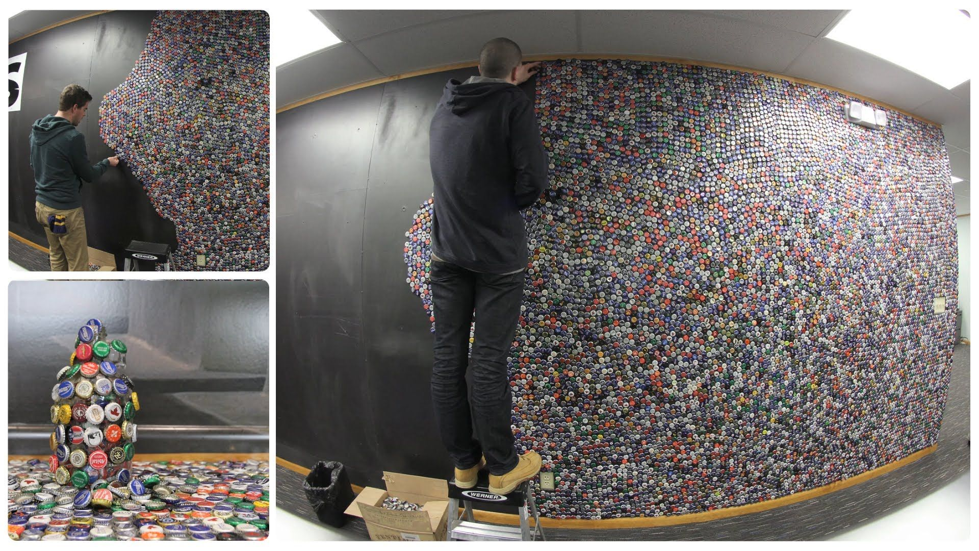 Bottle Cap Wall 60 000 Caps On Our Thickness Of