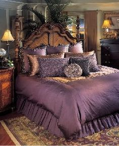 Gold white and lavender comforter sets google search bedroom guestroom pinterest Royal purple master bedroom